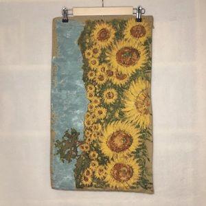Pottery Barn sunflowers lumbar pillow cover